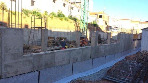 Evolución de los trabajos de Edificio «San José». Mes 3