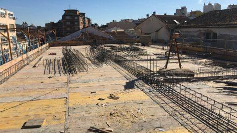 """Evolución de los trabajos de Edificio """"San José"""". Mes 5"""