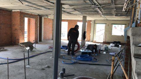"""Evolución de los trabajos de Edificio """"San José"""". Mes 11"""