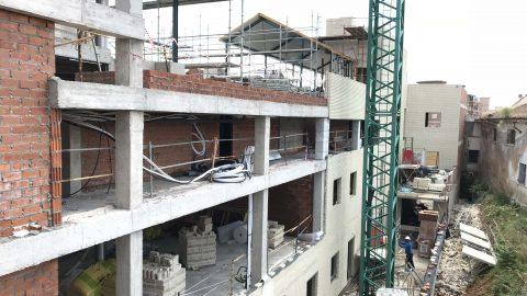 Evolución de los trabajos de Edificio «San José». Mes 11