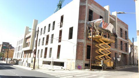 Evolución de los trabajos de Edificio «San José». Mes 14